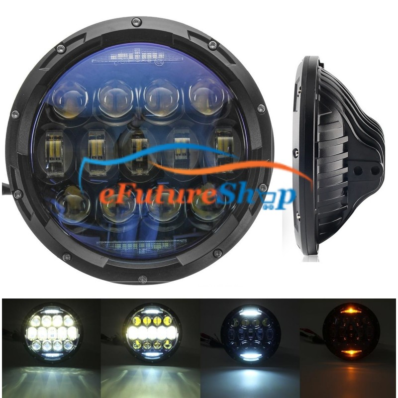 "Universal 7"" LED Headlight Dual Drl For Jeep Car & Bike"