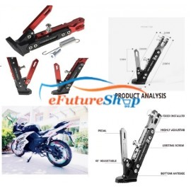 Universal CNC Aluminium Alloy Adjustable Kickstand For Bike