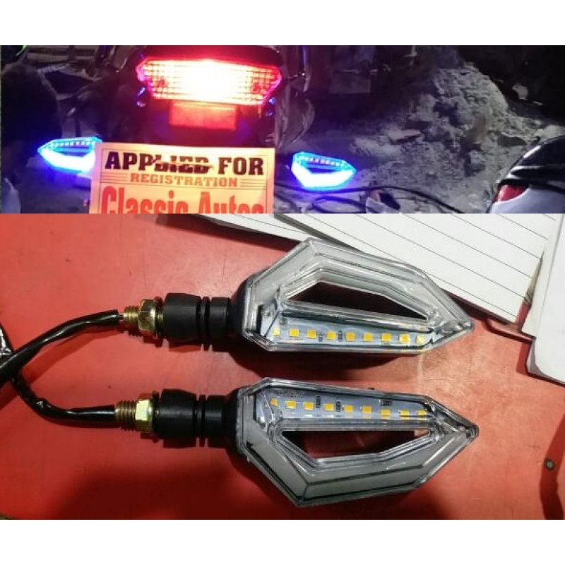 Bike Indicator Lava Eagle Eye Style With DRL Light 2 Pcs