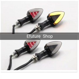 Bike Mini Indicators Smoke Lava Style B With Brake Running Indicator Smoke 2 Pcs