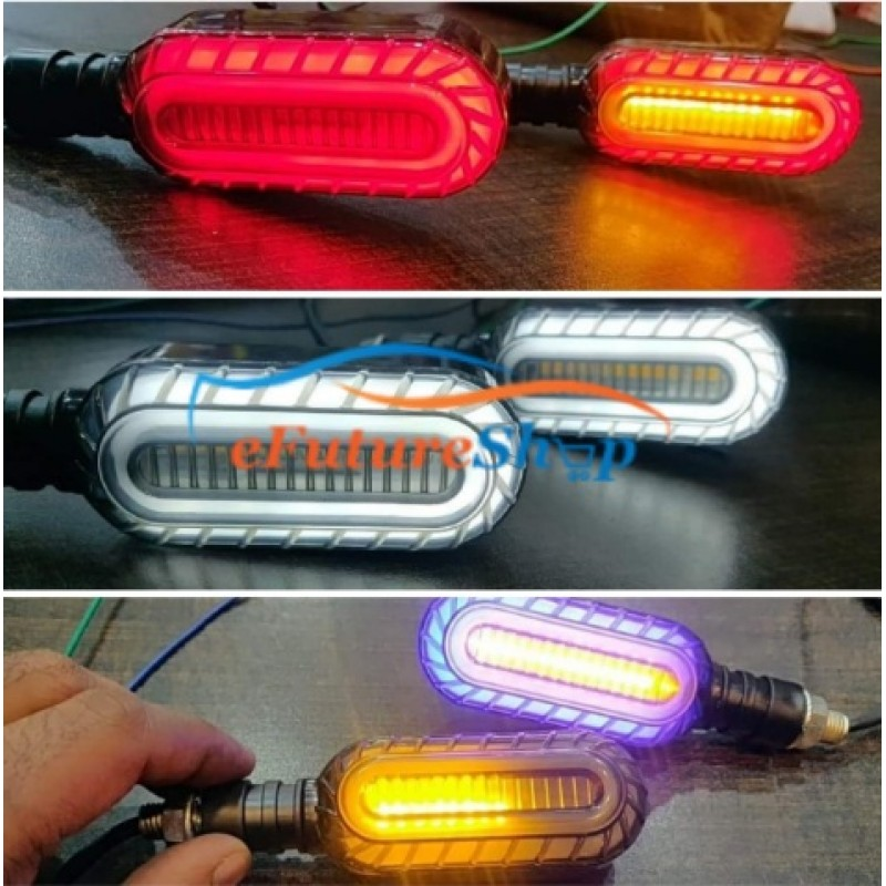 Universal Oval Shape Bike Running Led Indicator