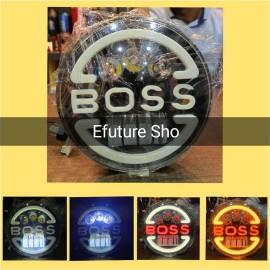Universal 7 inch Led Headlight Boss Style Car Jeep & Bike
