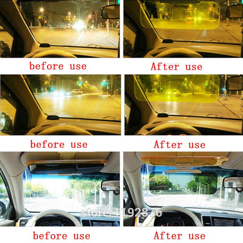 HD Car Anti-Glare Dazzling Goggle Day Night Vision Driving Mirror Sun Visors 22a332f3978