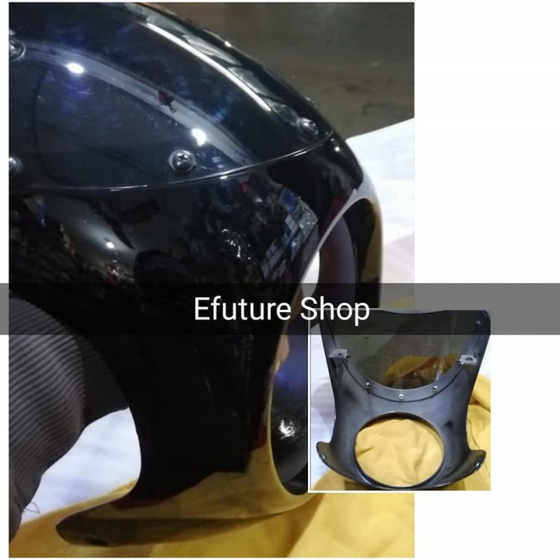 Headlight Fairing Hood With Clumps 7 Inch