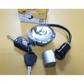 Honda 125  Bike Lock Switch Kit With Computer Key And Light