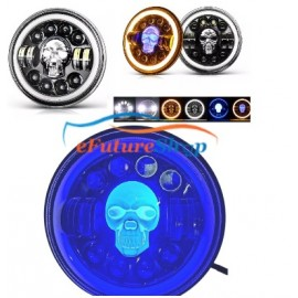 Universal 7 inch Led Headlight Panel Skull Style Car Jeep & Bike