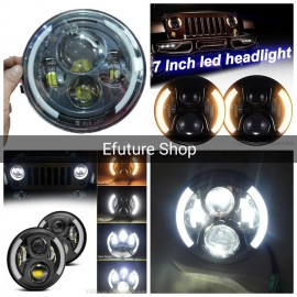 Universal 7 Inch Car jeep Motorcycle Headlight Dual Color