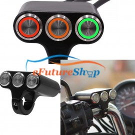 Universal Aluminium Body 3 in 1 on off switch For Bike