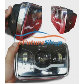 Universal Jeep / Car / Bike  LED Headlight Square