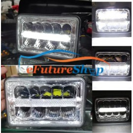 Universal Jeep / Car / Bike LED Headlight Square With DRL Light