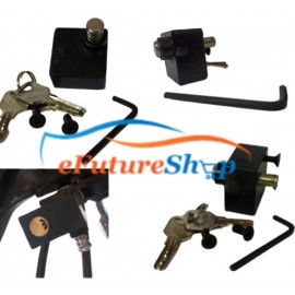 Universal Bike Side L Key Push Lock With Computerized Key